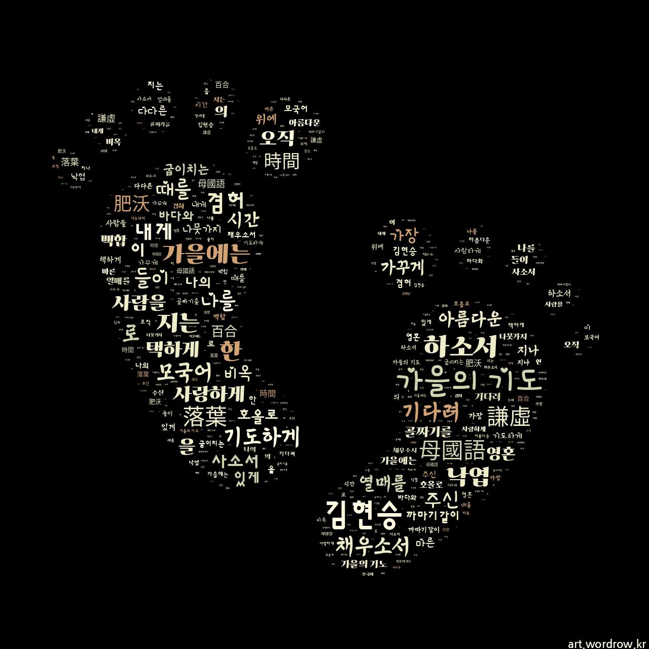 워드 클라우드: 가을의 기도 [김현승]-68